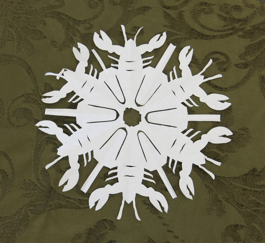 No, I didn't make the lobster snowflake.