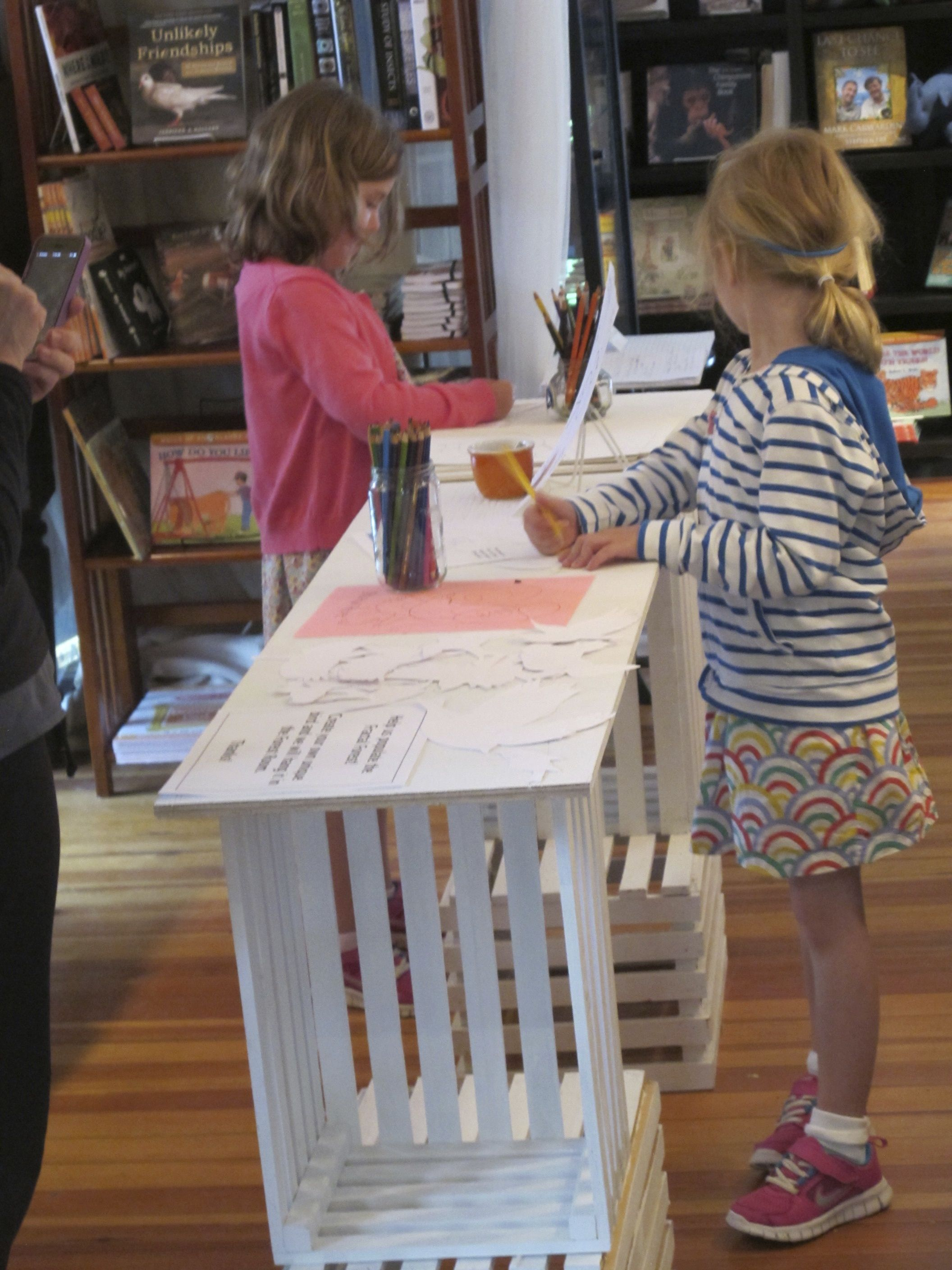 Young artists have been drawing birds, seals and even Martians at the original Naturalist's Notebook at 16 Main St. in Seal Harbor.