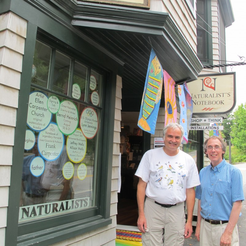 Jeff (left) led a bird walk at The Naturalist's Notebook last summer.