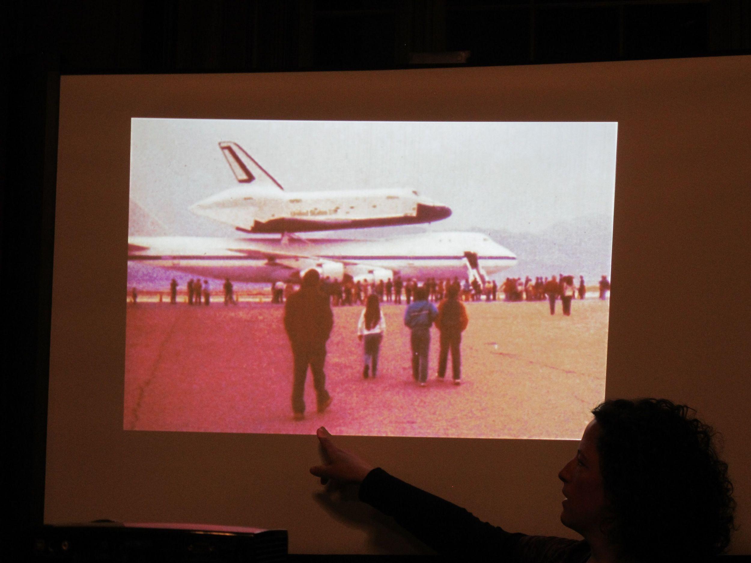 Karen's childhood visit to the  Enterprise shuttle.