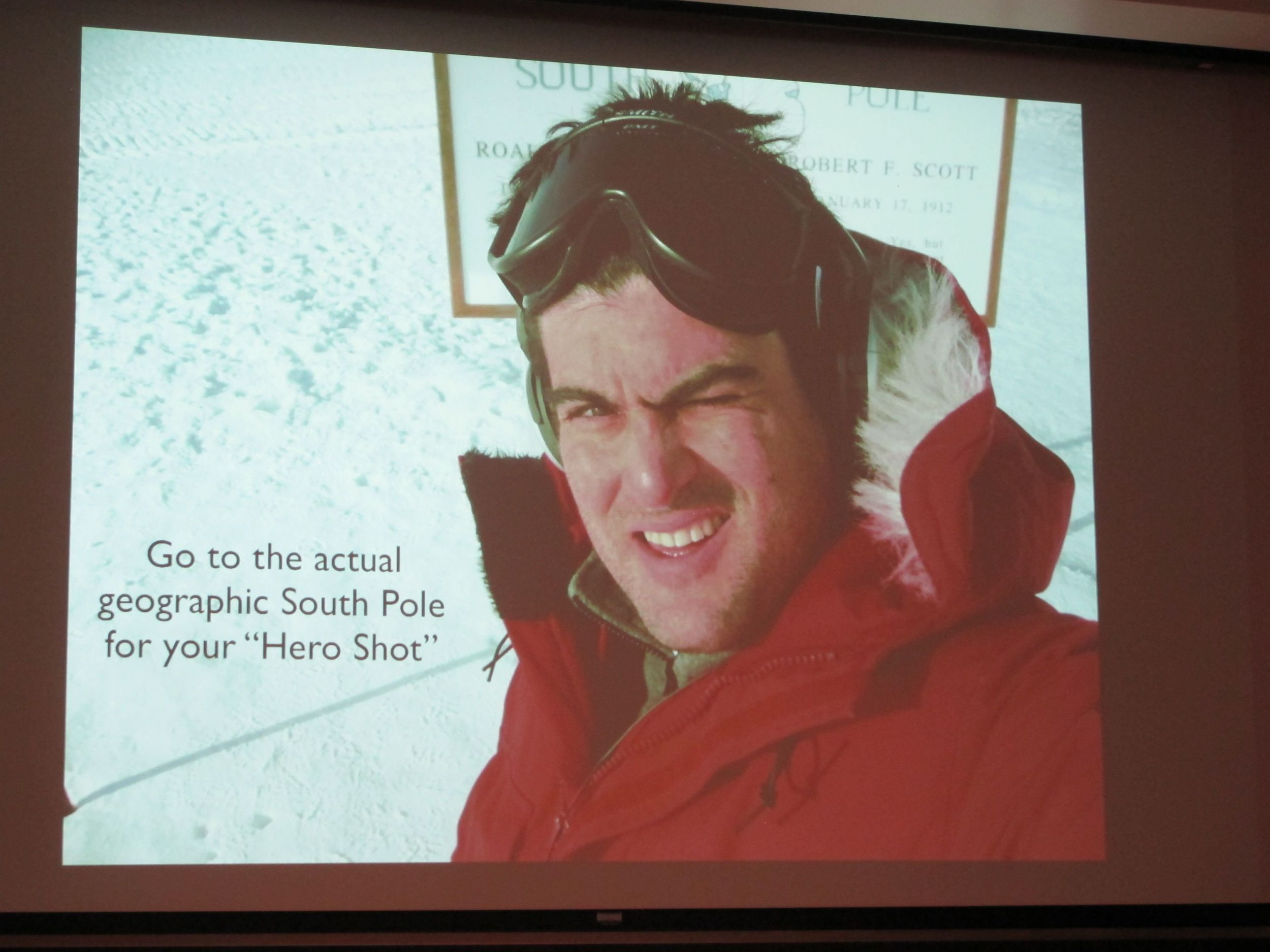 We took a detour to the South Pole with visiting lecturer (and Notebook contributor) Brian Keating, an astrophysicist at UC San Diego. He described going to an observatory station Antarctica to measure cosmic microwave background radiation emitted during and after the Big Bang 13.7 billion years ago—but just reaching the Earth now,