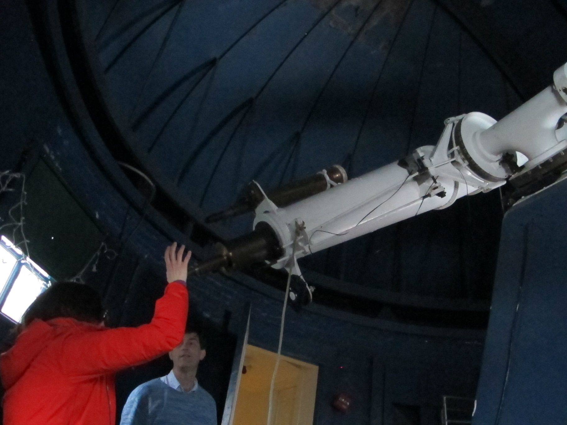 Miles Blencowe generously gave us a tour inside the observatory