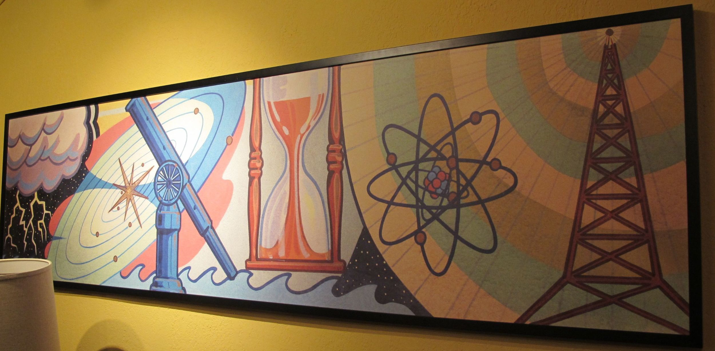 Even the art in our room had a brainy theme.