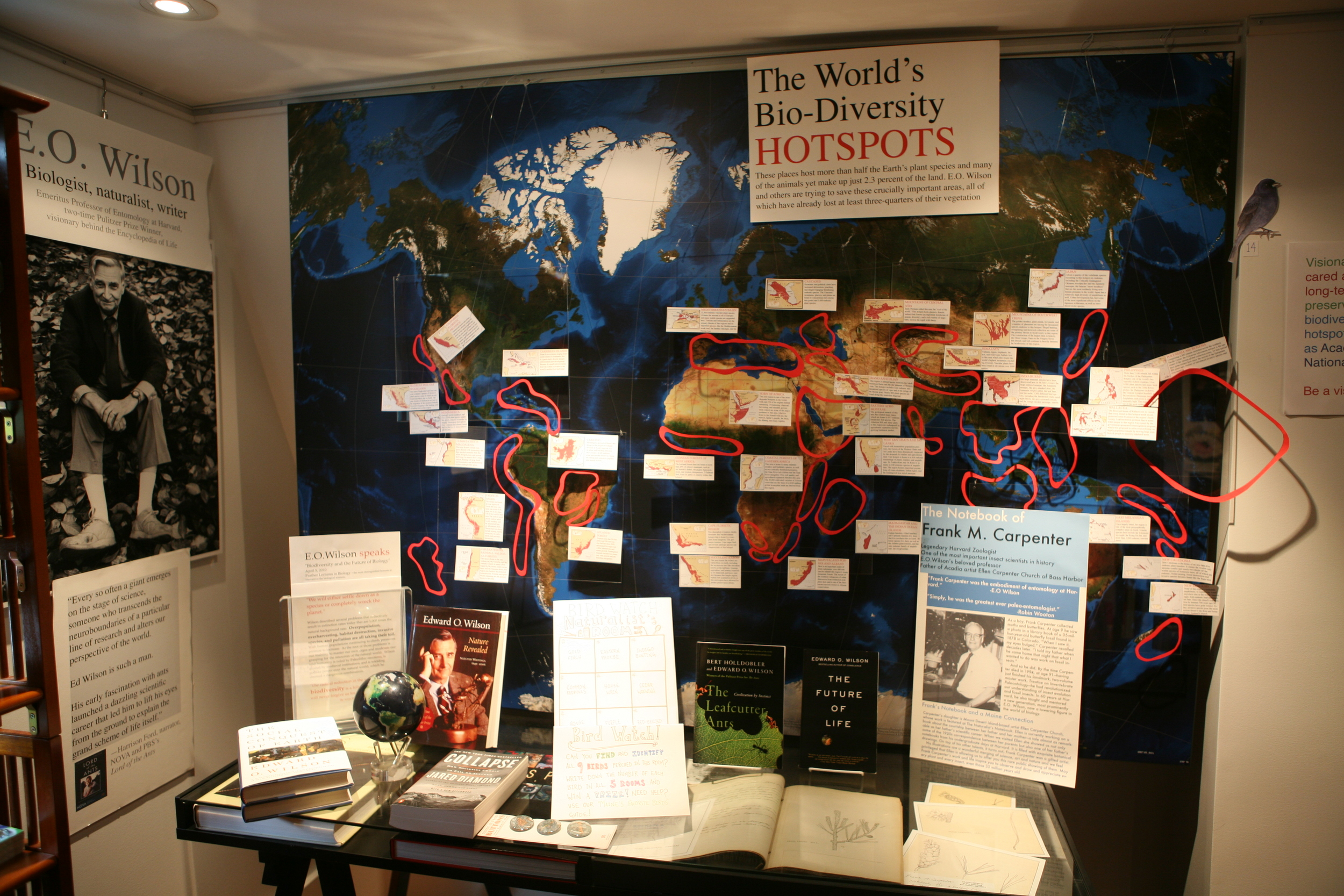 The bio-diversity hotspot map at The Naturalist's Notebook. It'll be there for you to study if you stop in on November 23 or 24.
