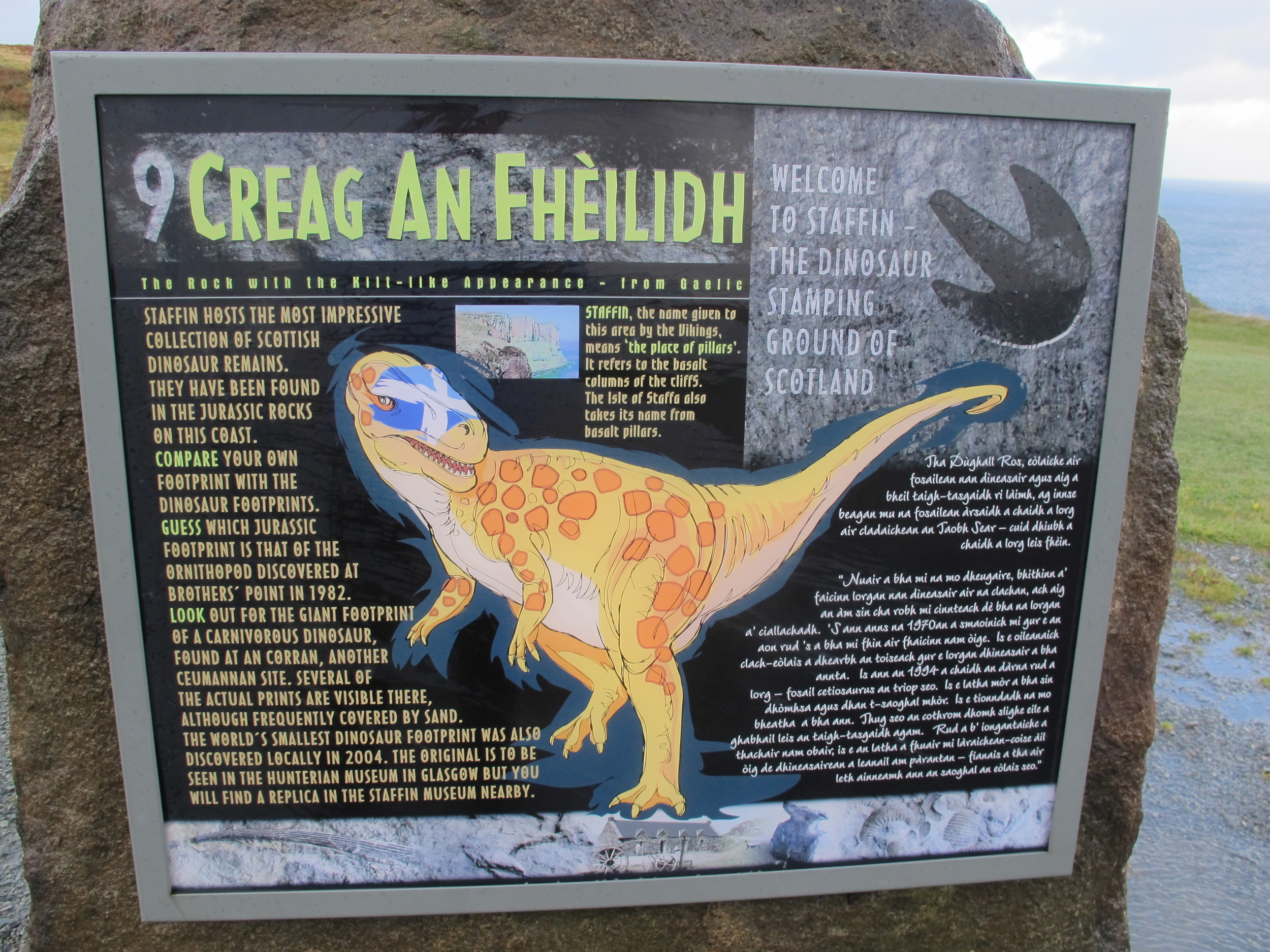We walked in the footsteps of giants; Skye was once prime dinosaur territory.