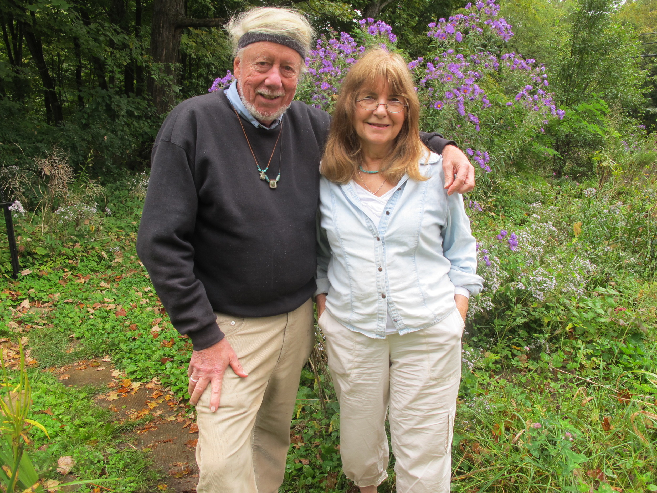 We talked with David and Laurette talked about art, ecology, turtles, David's McArthur fellowship and much more, including the beautiful wild asters growing in their dooryard.