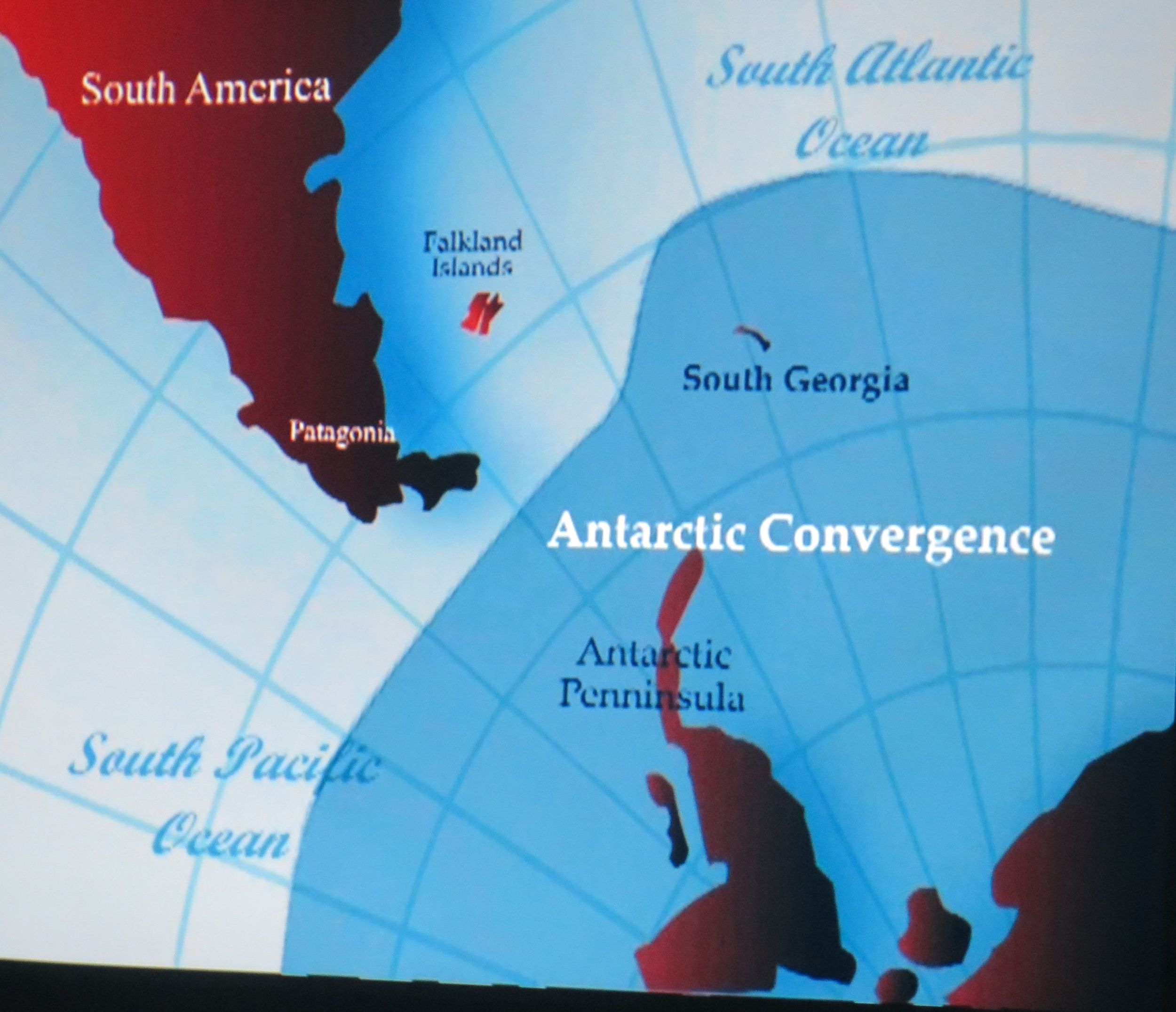 How is the Antarctic defined? Many scientists will tell you it begins not at 66 degrees south latitude (the start of the geographical Antarctic Circle) but at the more northerly and varying line of the convergence, where warm and cold oceans meet, the Antarctic environment starts and the sea becomes richer with churned-up nutrients, feeding a profusion of marine wildlife and birds.