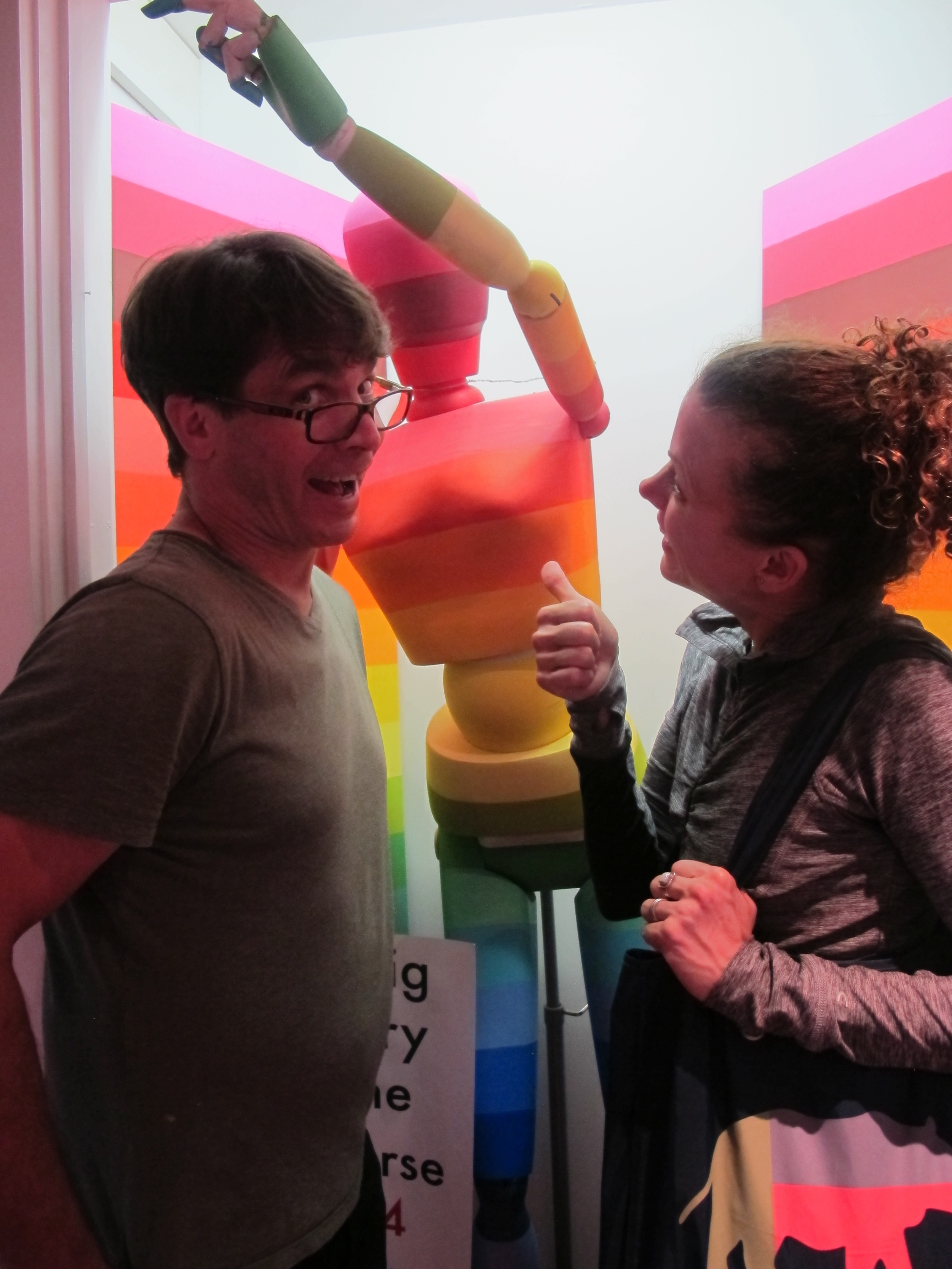 Scott and Elizabeth had fun visiting Hueman, our 13.7-billion-year, color-coded—dare I say walking and talking?—timeline of the history of the universe .