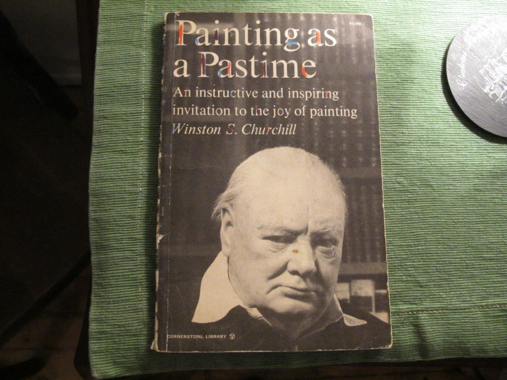 Did you know that Winston Churchill loved to paint, and was quite good at it? While in New York I visited artist Margaret Krug, who showed me a copy of this book, which she'd just received as a gift from a friend.