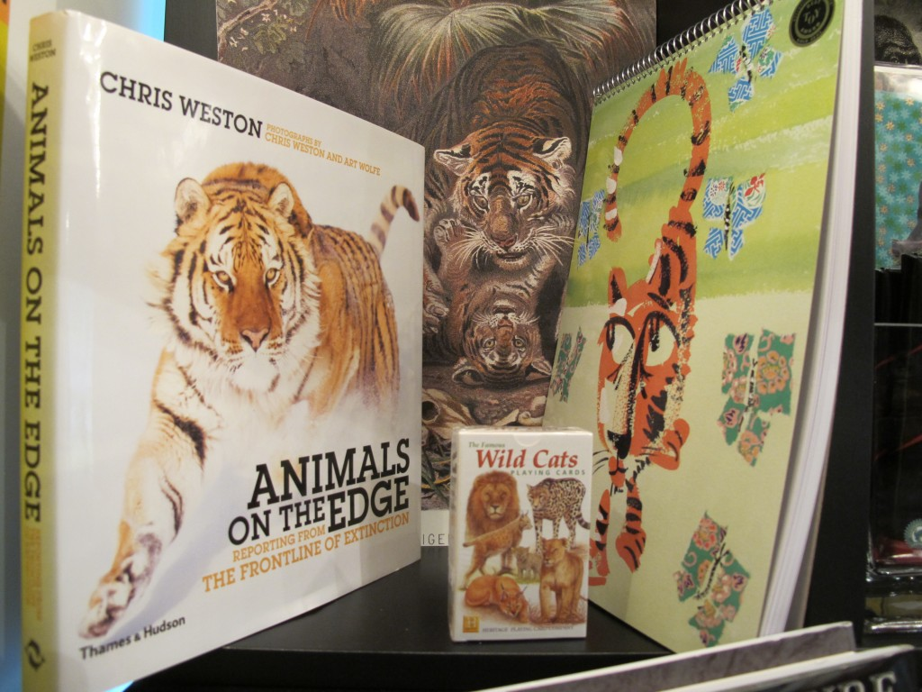 Tigers are but one of the endangered species we highlight in shop-and-think displays.