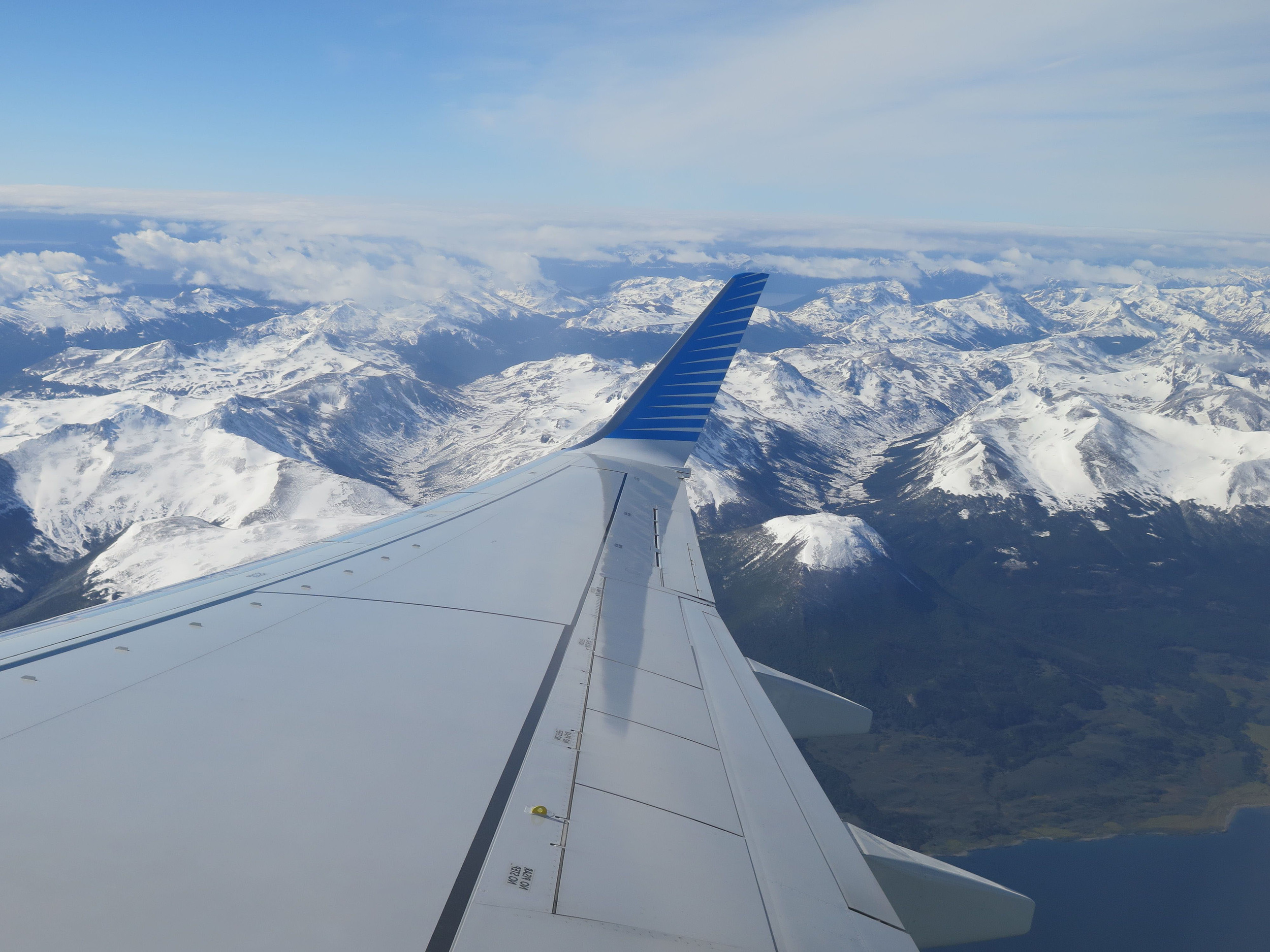This is my view of the Andes. We shall soon land in Tierra del Fuego, which I have not set foot upon in 130 years.