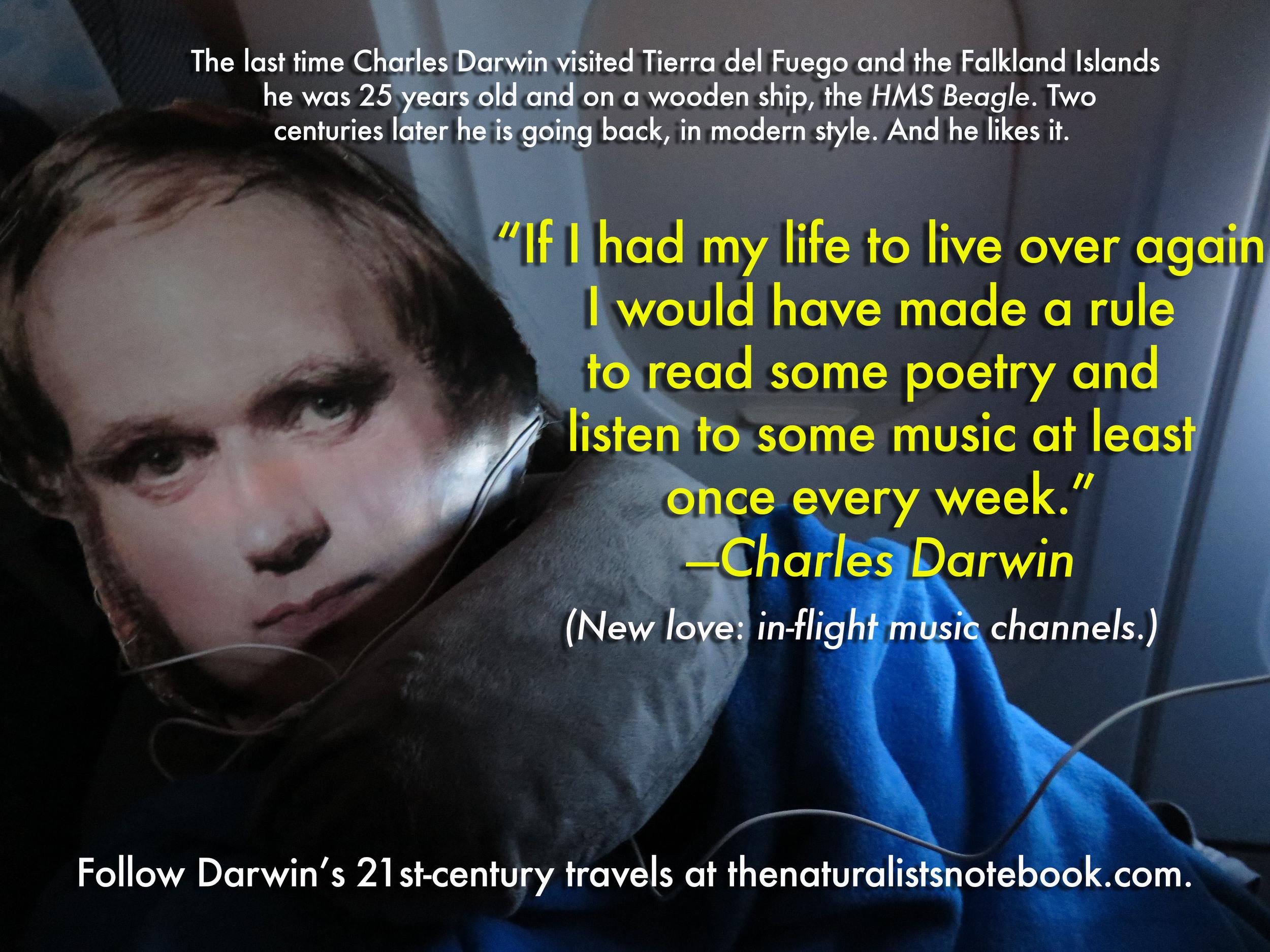 Charles Darwin travels