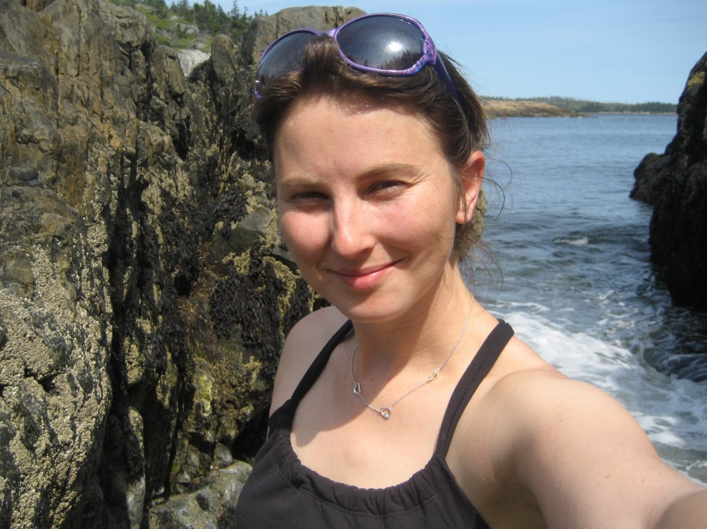 Here's Caitlin, enjoying the Maine coast.