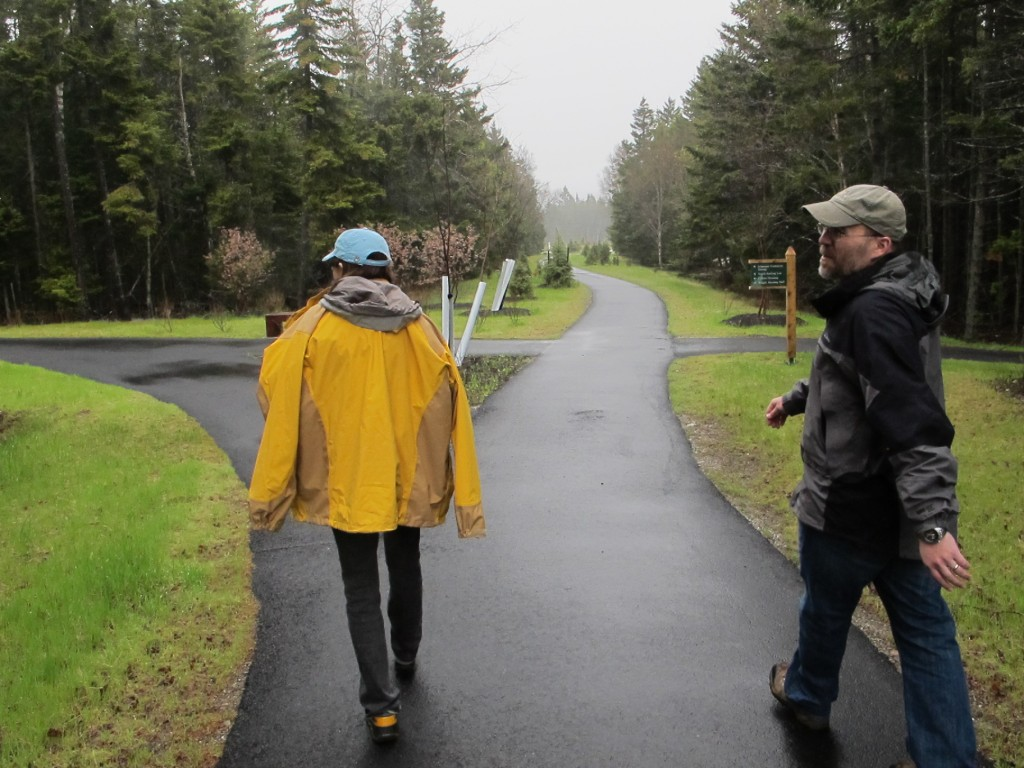 Abe led us around the SERC campus on former paved roads that have been transformed into walking paths like this one.