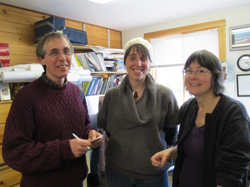 From left: Yours truly, Shannara Gilman and Jane Disney in Jane's lab. As one scientist at the lab told me, if you're ever having a bad day at the MDIBL, just look out the window at the gorgeous view and everything will seem better.