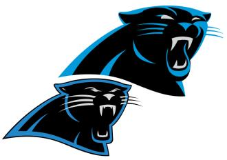 See if you can identify the changes in the Panthers' logo. The old one is on top.