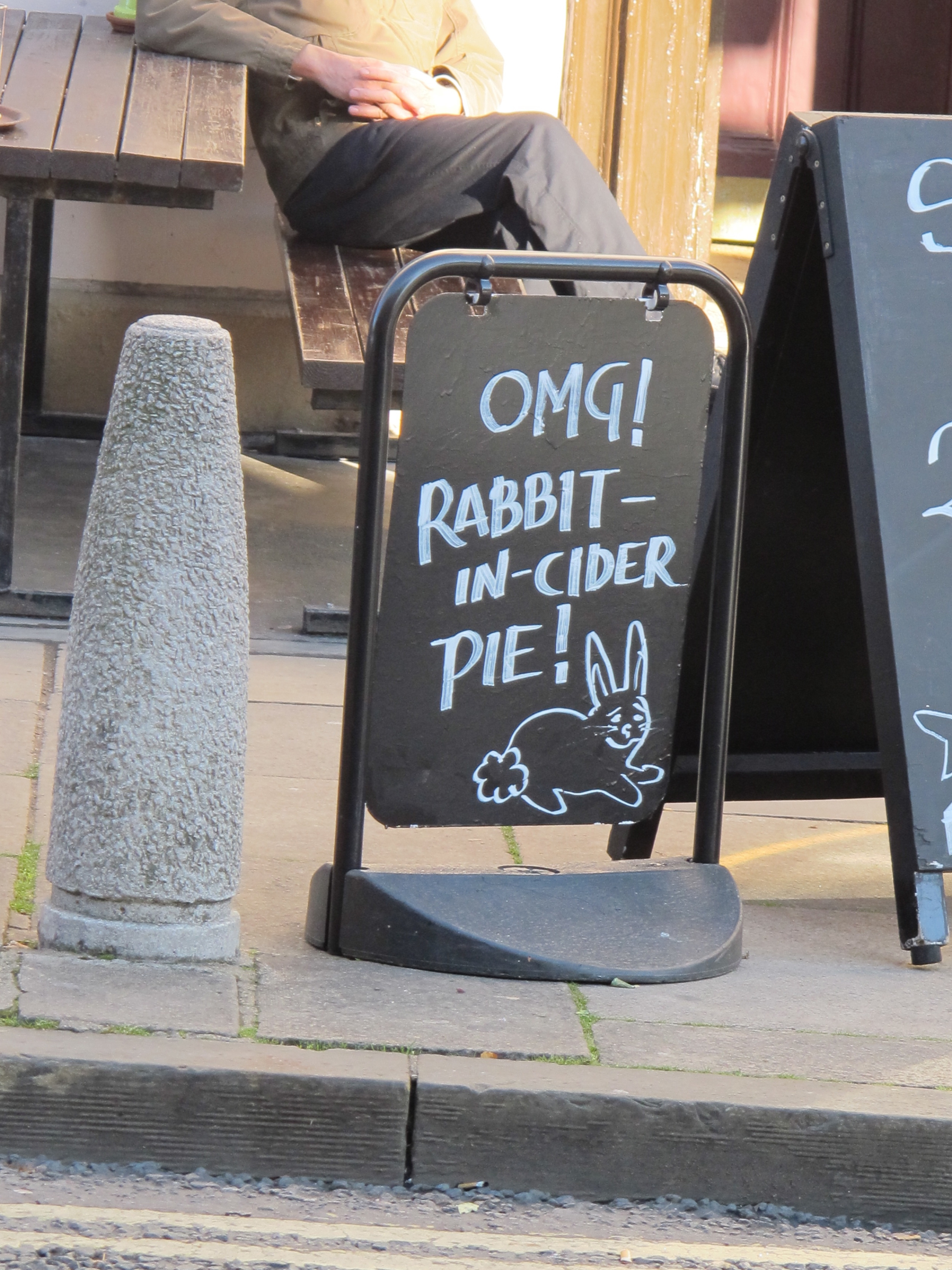 OMG indeed! This Oxford lunch special would have been jarring fare for the March Hare at Alice's tea party.