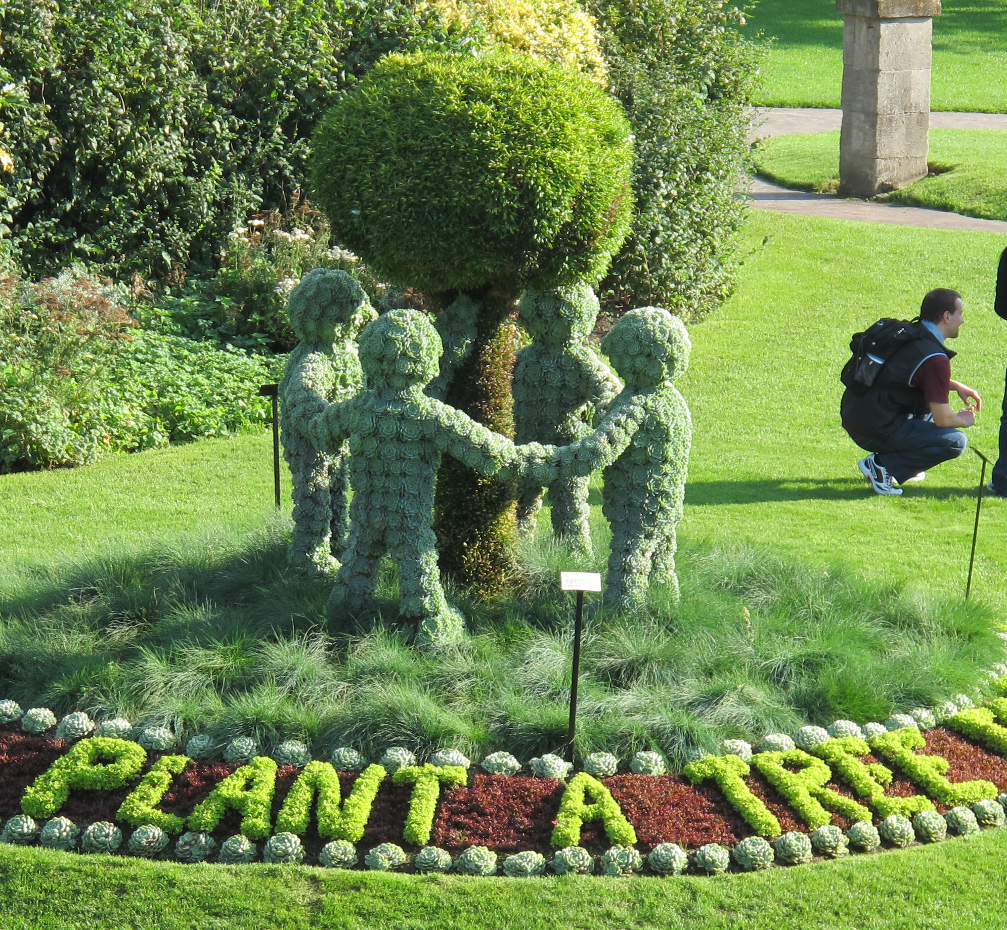 We liked the green-minded topiary in a park in Bath.