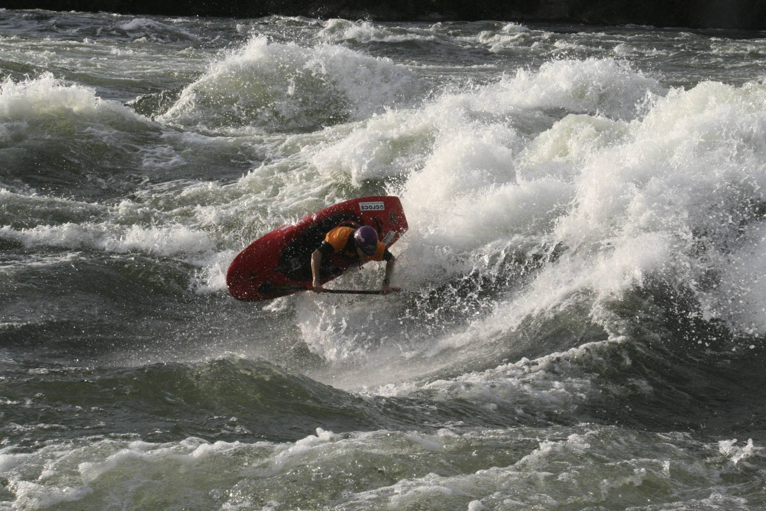 Here's Jessie in action. When in Africa she often trains in a whitewater section of the Nile.