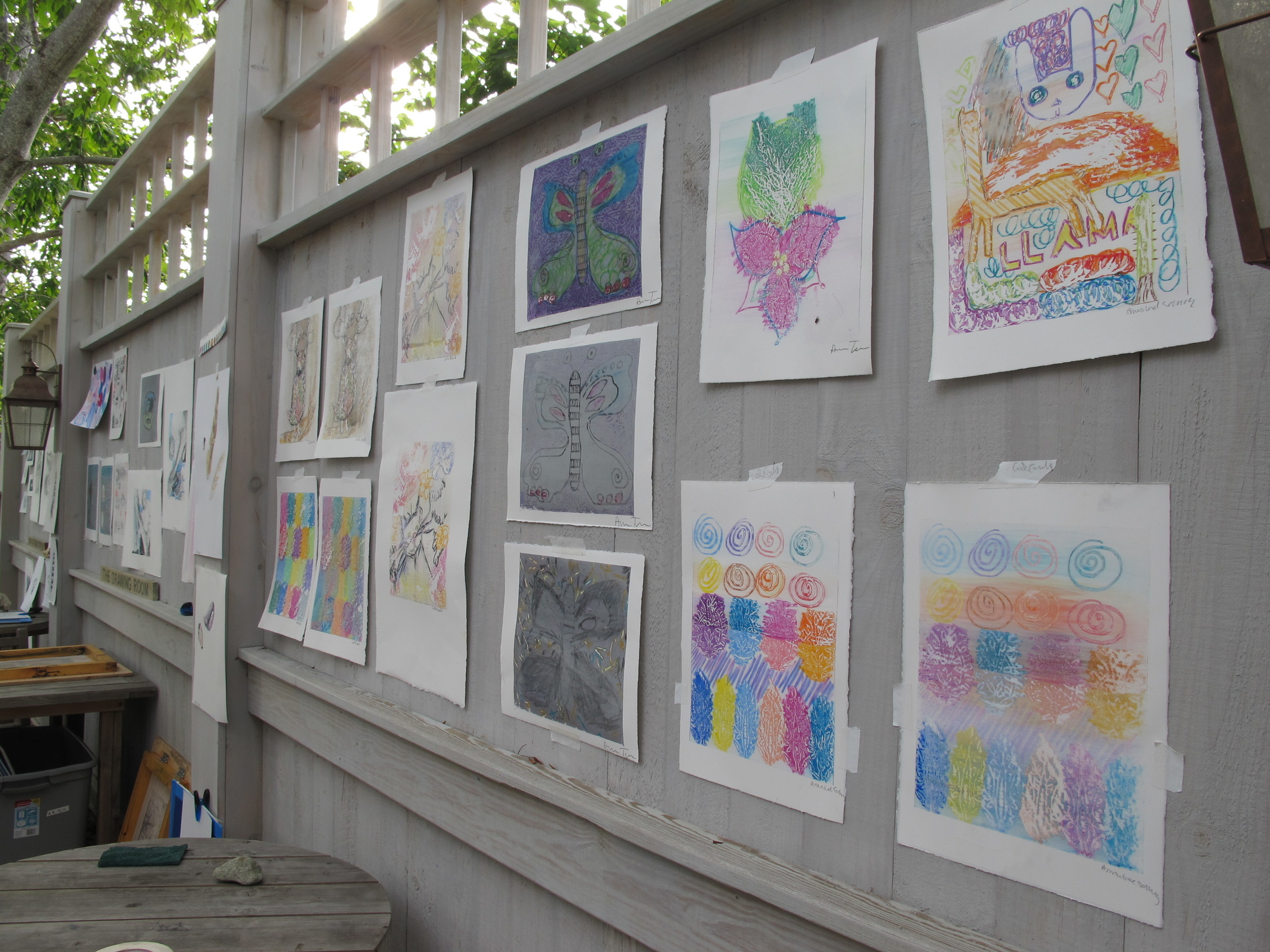 Just a portion of the work created by our eight artists and displayed on the Notebook deck.