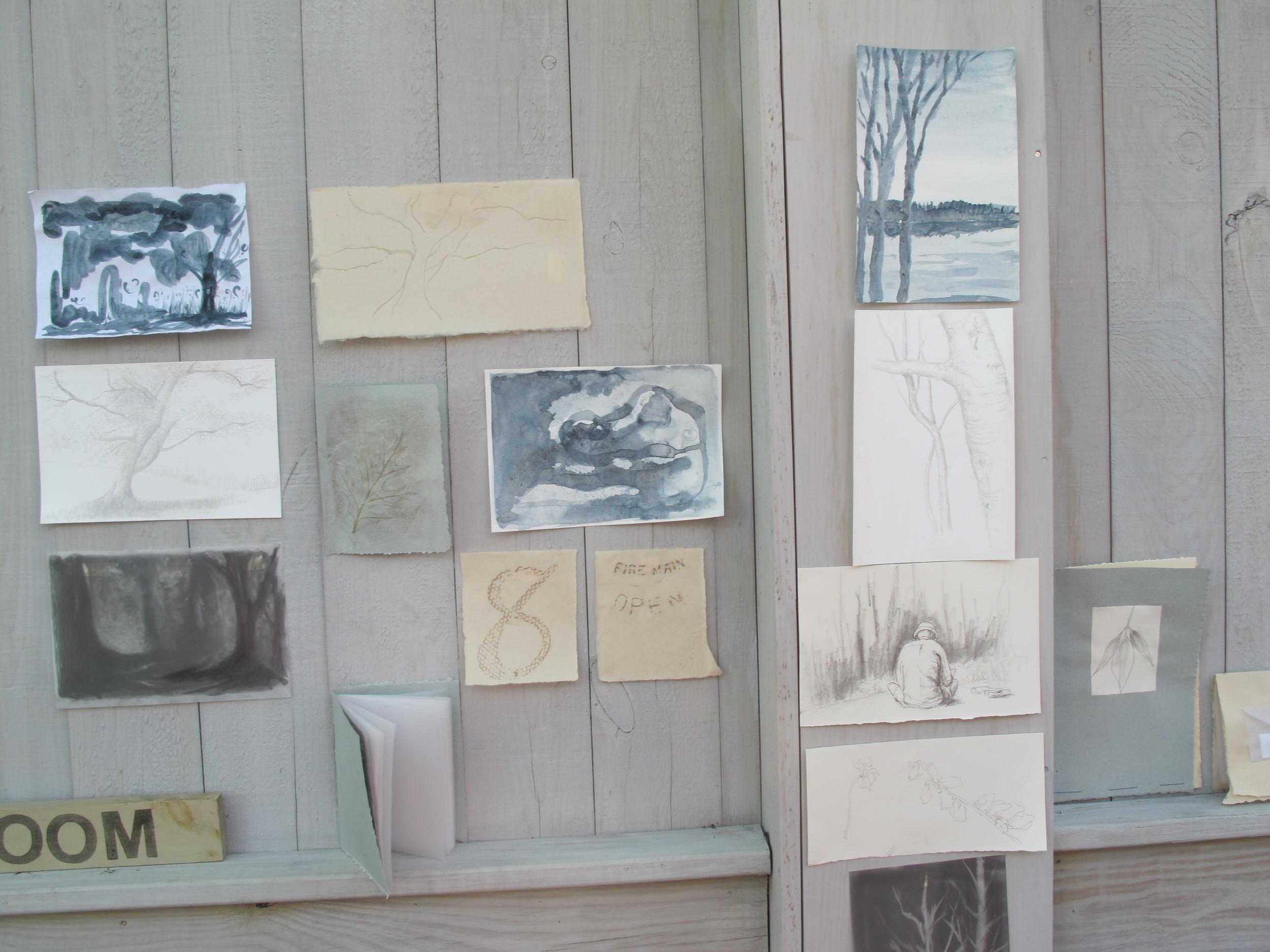 Part of the post-workshop instant art show.