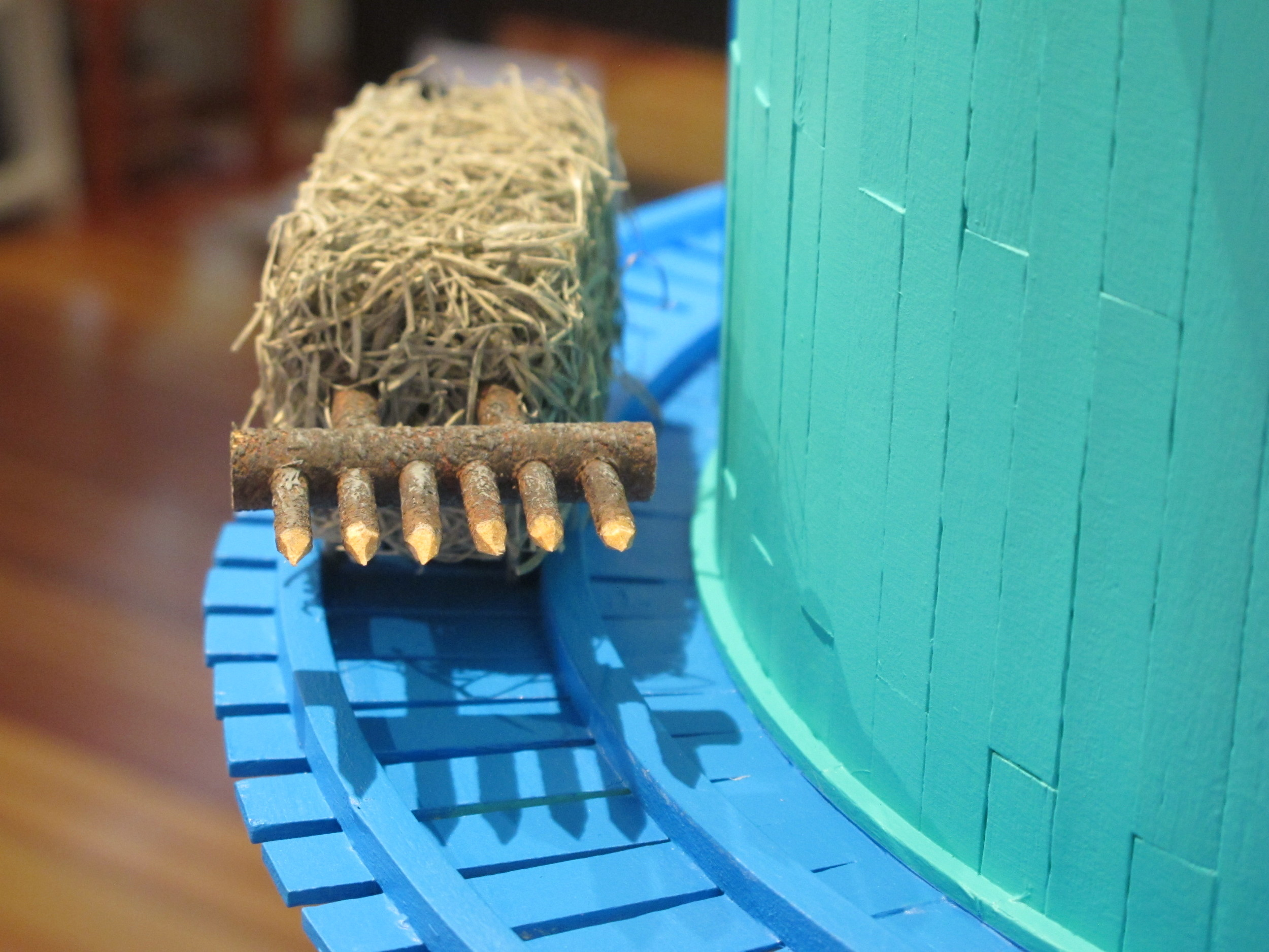 The sinister motorized hay bale, comin' around the bend.
