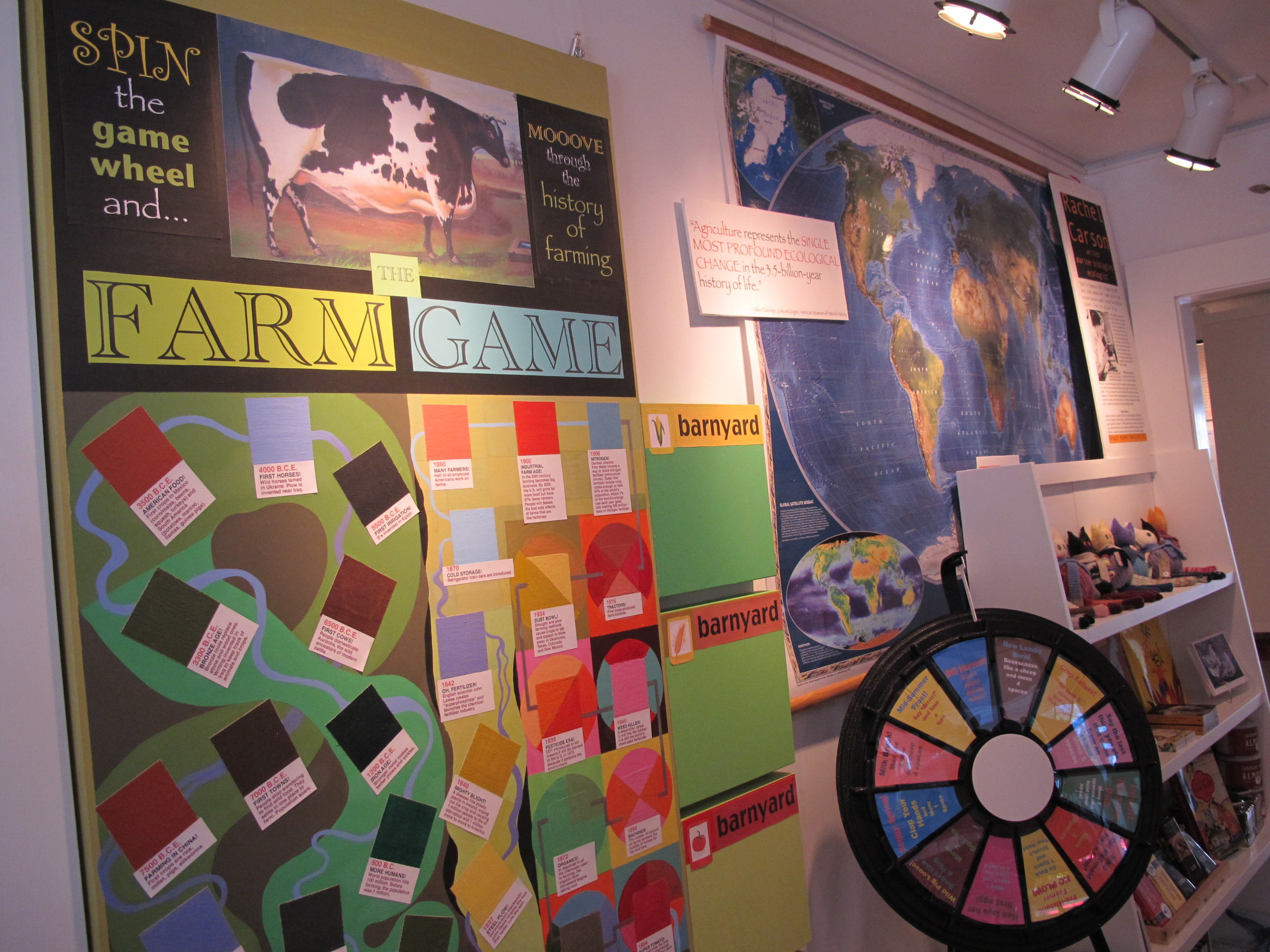 Spin the wheel and take your chances as you maneuver through our oversized, homemade board game. If you've ever golfed with your sheep, you get an extra wheel spin.