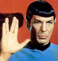 Leonard Nimoy as Spock.