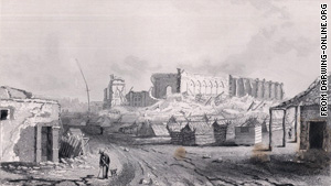 Concepcion, Chile, after the 1835 quake.