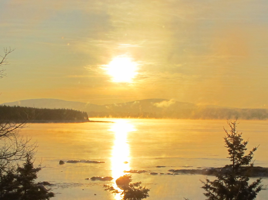 Wednesday's sunrise over Mount Desert Island.