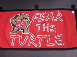 University of Maryland teams are known as the Terrapins, hence the slogan.
