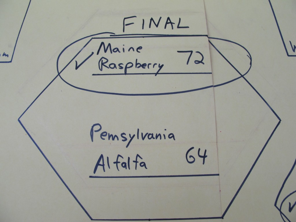 Pennsylvania alfalfa—down by a dozen votes yesterday morning—closed to within eight by late yesterday afternoon but ran out of time.