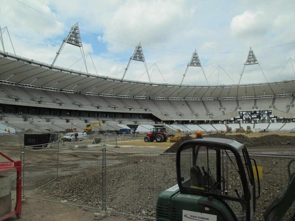 This is the future London Olympic stadium, part of a 500-acre Olympic Park complex being built on reclaimed industrial land in East London.