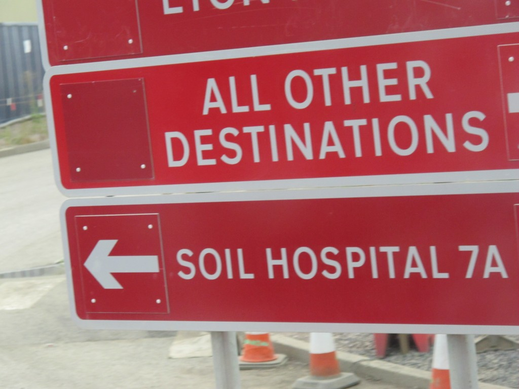 The dirt at the Olympic Park was so filled with toxins that organizers have set up an emergency room to clean it.