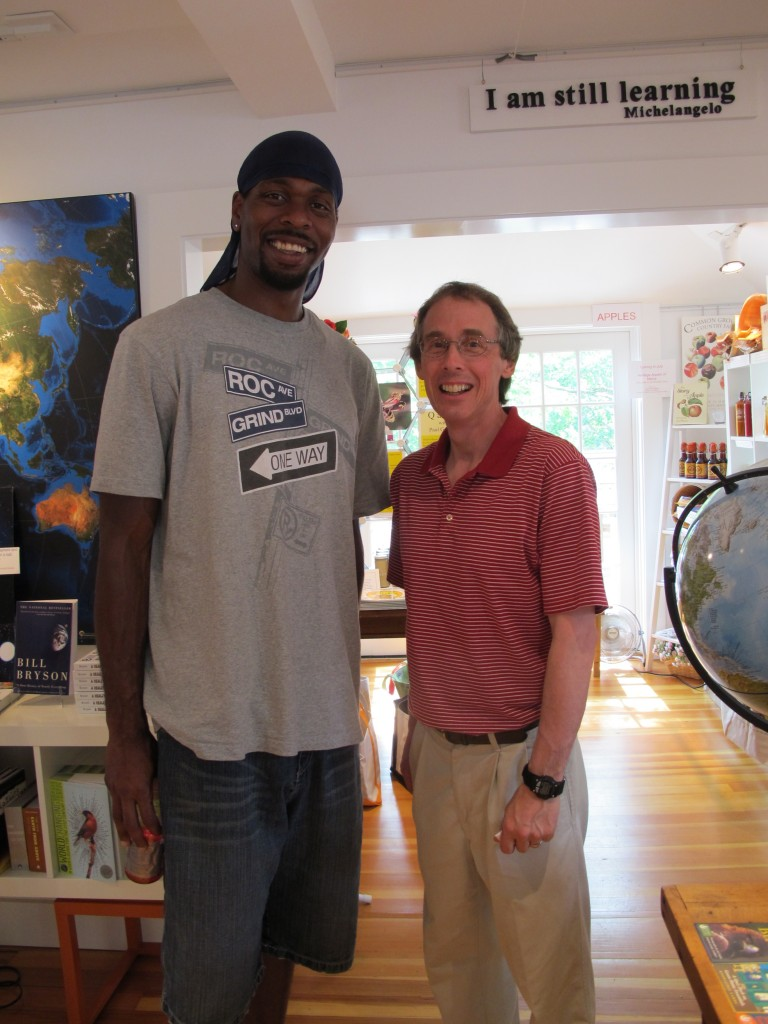 Steve (left) added a lot of fun to our day and gave me someone to talk to about Lebron James and his future.