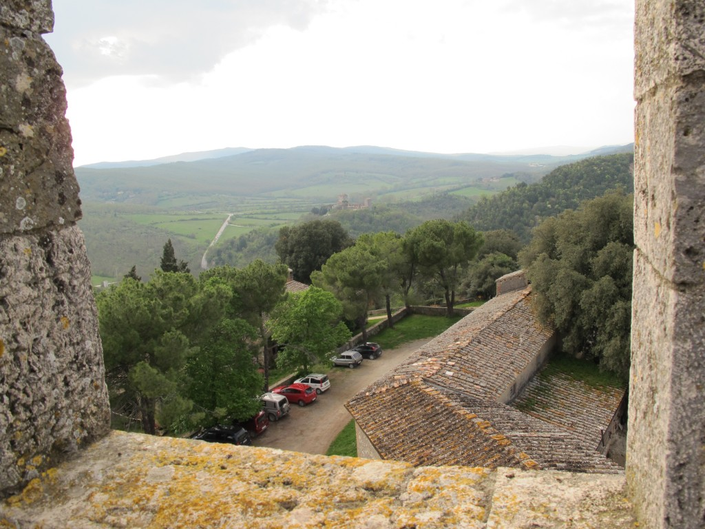 From the ancient stone tower you can see much of Spannocchia's 1,100 acres of farmland and forest.