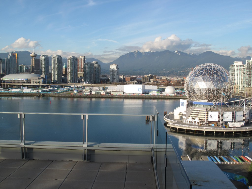 Another view north from the athletes' village, which was built on Vancouver's last large undeveloped tract of waterfront land.