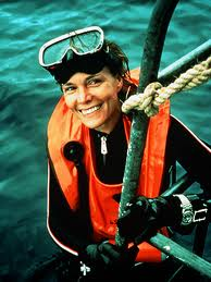 SYLVIA EARLE , marine biologist, explorer and author of dozens of books, including  The World Is Blue: How Our Fate and the Ocean's Are One