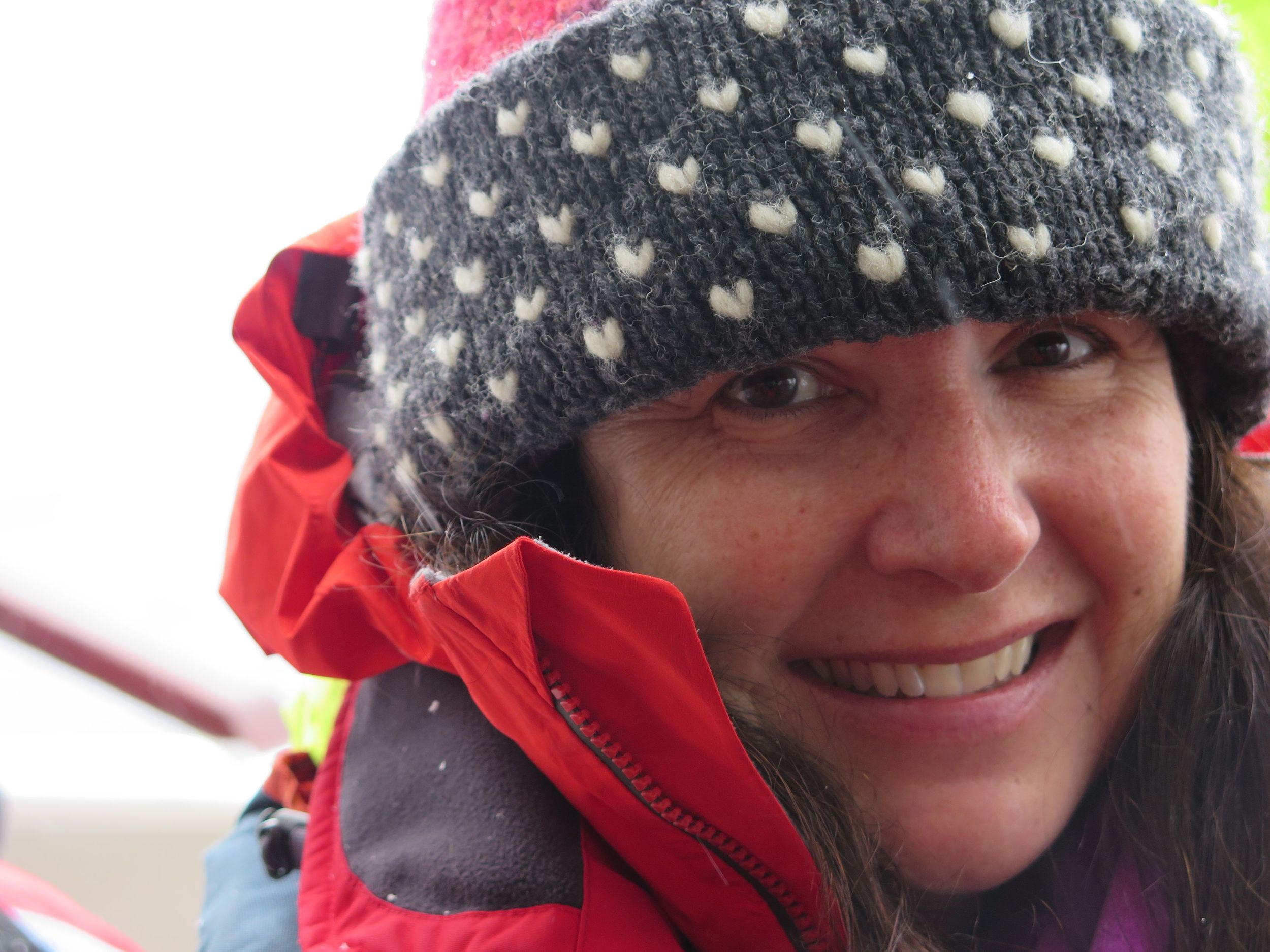 Pamelia was ready to go as we waited to board Zodiacs for the ride ashore at Mikkelsen Harbor. She had been hoping for decades for a chance to set foot on Antarctica.