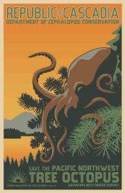 tree octopus poster