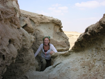 Hiking in the Fayum Depression, Egypt.