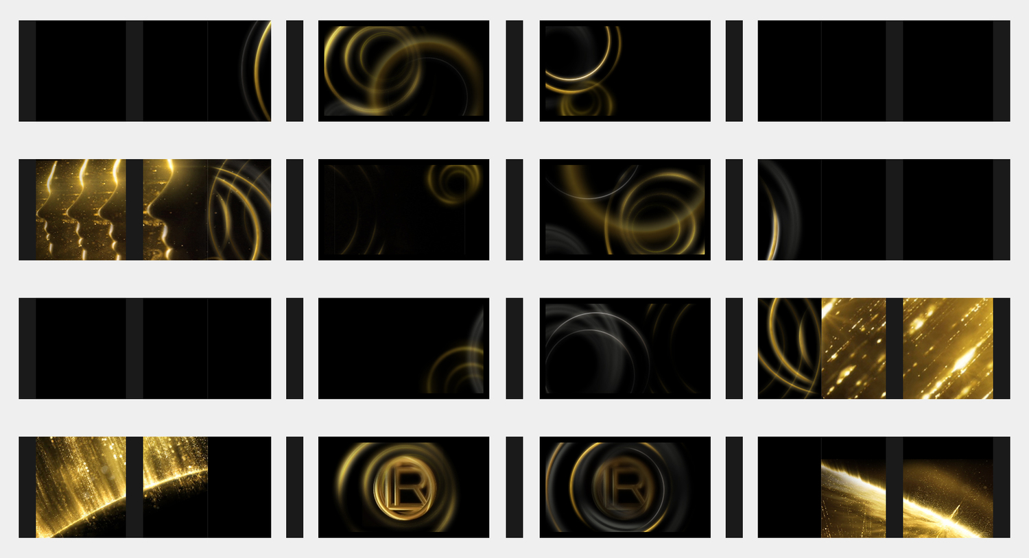 These were a series of test framescreated with the screen layout in mind. This was a process of eliminationas much as an exploration. We had to see what footage worked well together.