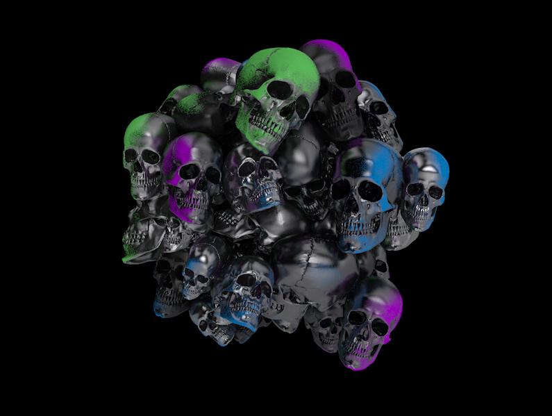 Painted Skulls // 001