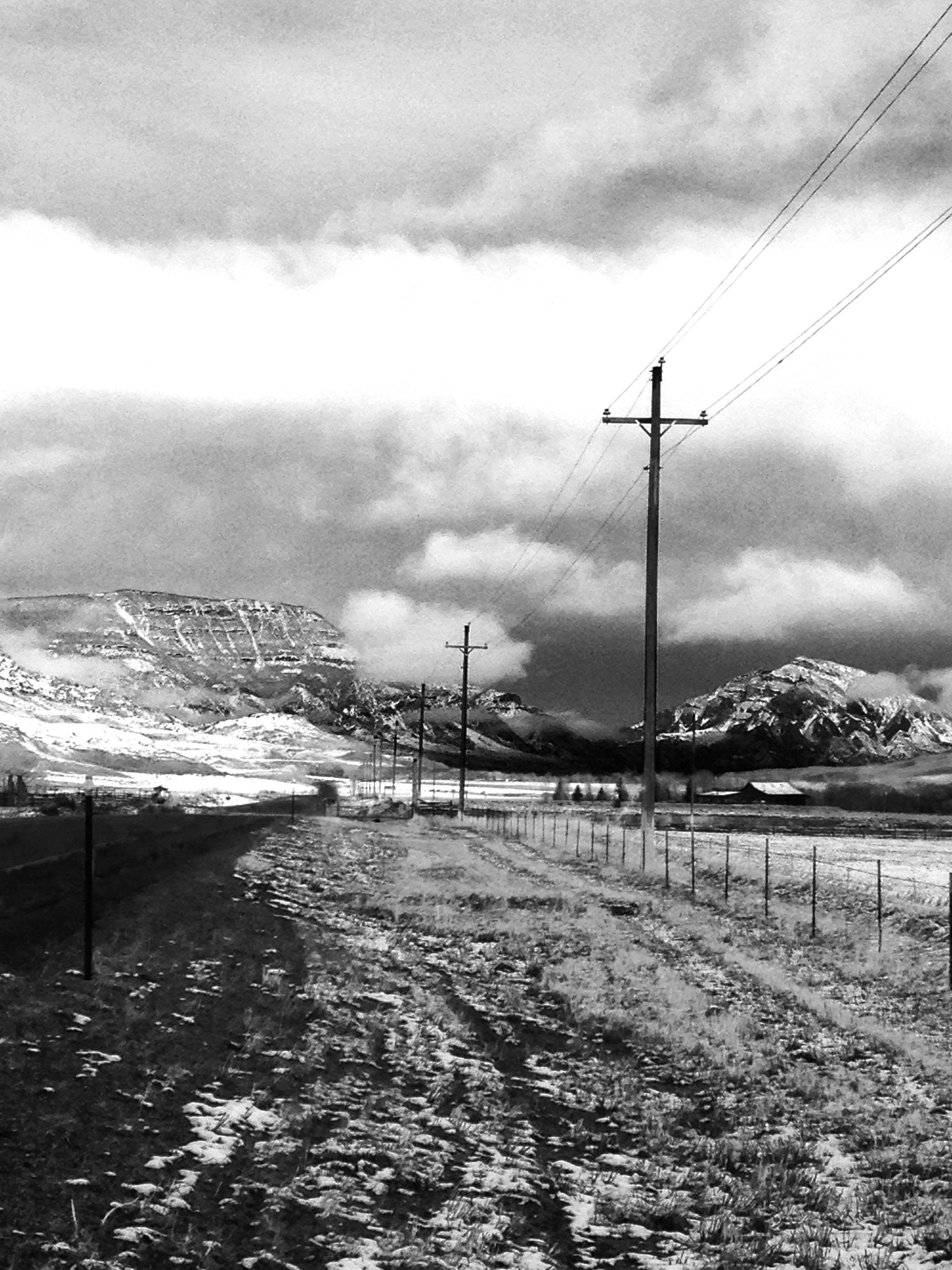 Trial run for nuclear winter, Hwy. 14, between Cody and Wapiti, Wyoming, 20 miles from the East Gate of Yellowstone National Park, April 1, 2017.