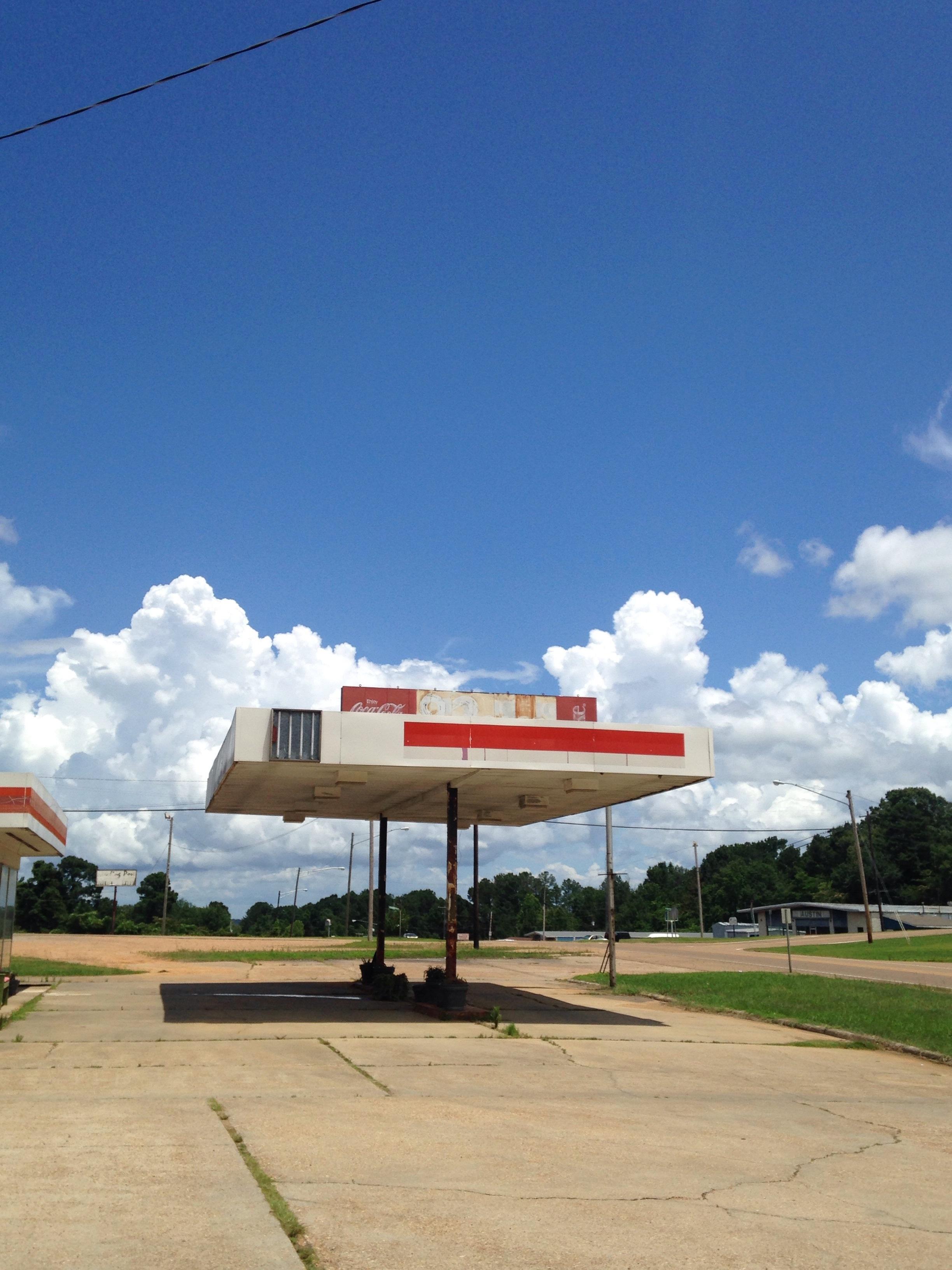 Abandoned drive-in hamburger stand, Winona, Mississippi, June 12, 2017.