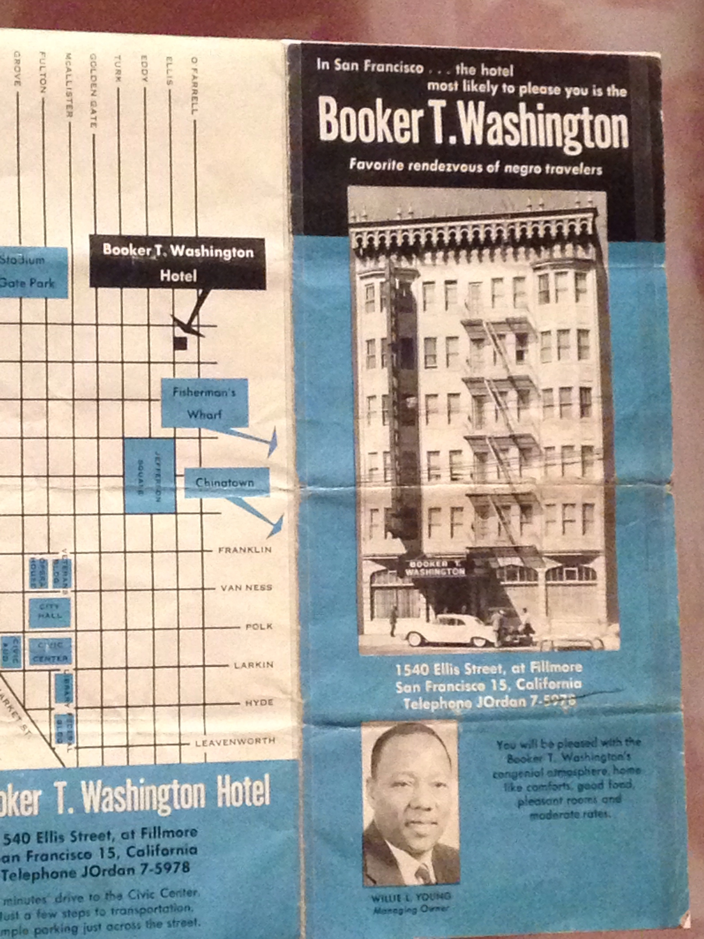 Hotel pamphlet, as seen in the B.B. King Museum, Indianola, Mississippi, June 8, 2017.
