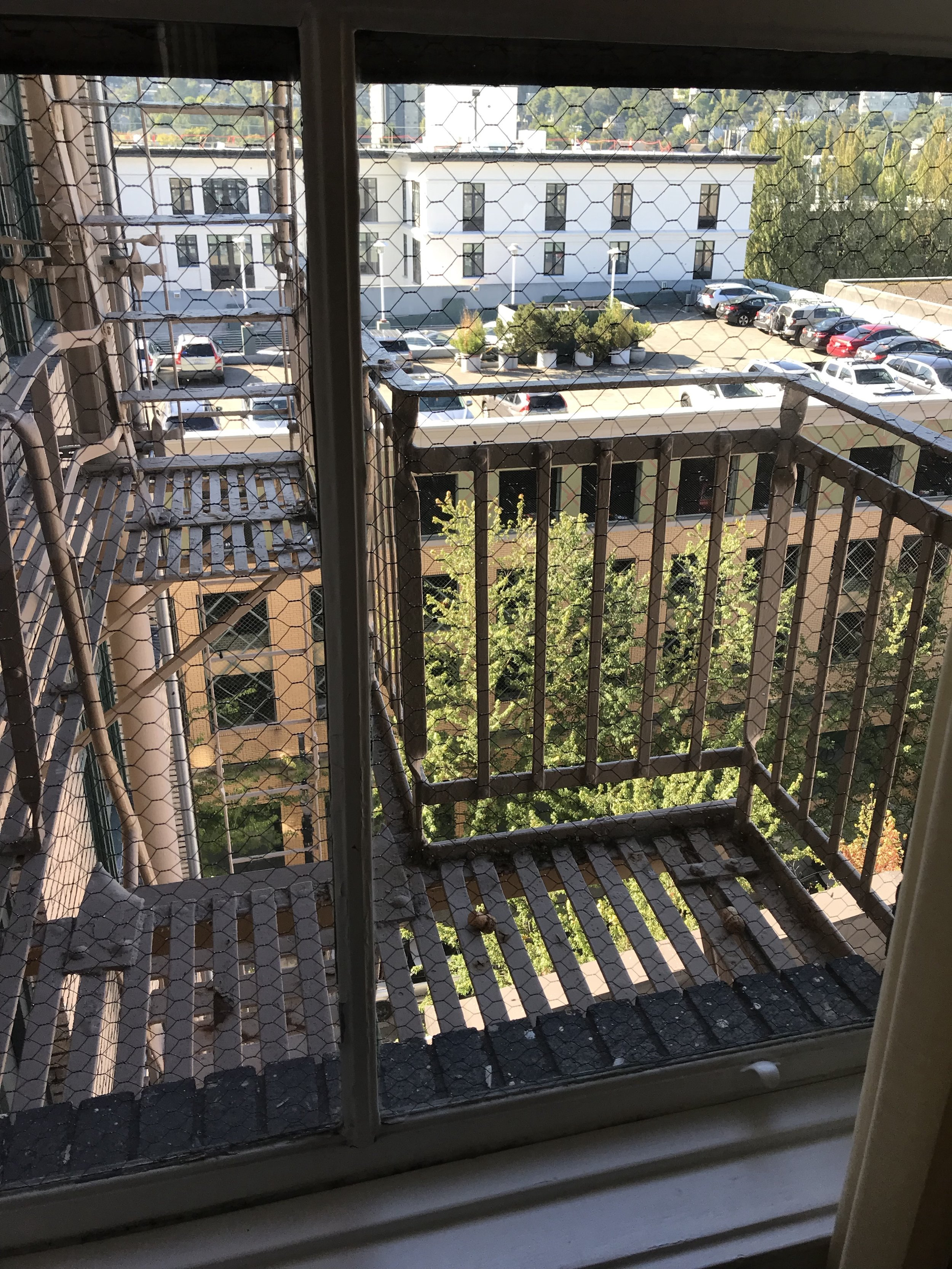 View from Rm 722, Hotel Deluxe, Portland, Oregon, October 5, 2017.