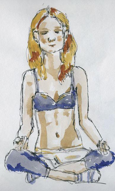Meditator in Blue