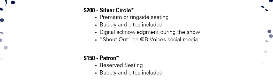 25th Silver Anniversary VIP Tickets