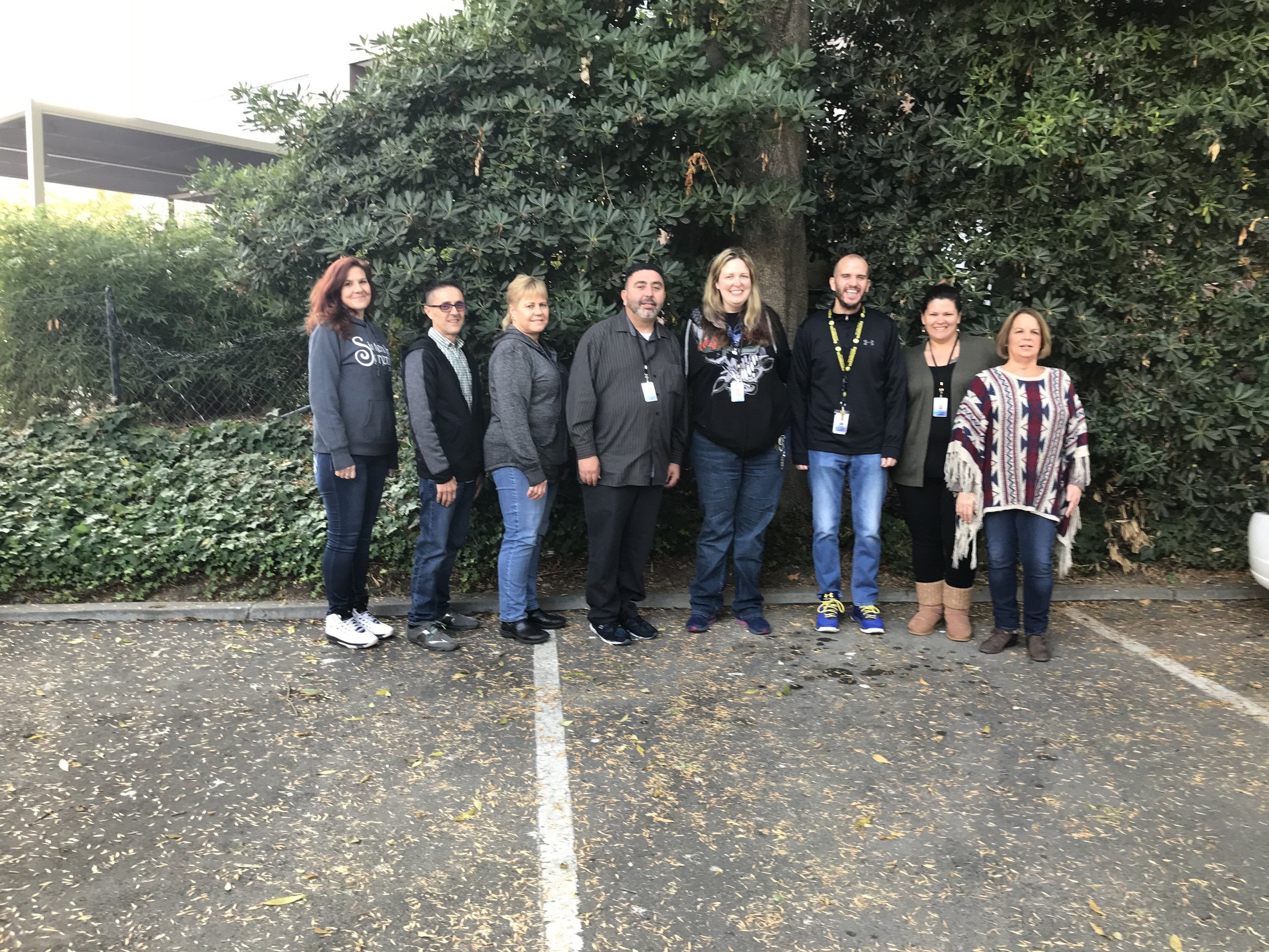 From left to right: Tiffany Cordero (Admin), Joe Iacocca (Program Manager), Amy Brinks (QA), Robert Thomas (Clinician), Jessica Ruddle (Clinician), Eric Covotta (Clinician), Karen Reed (Clinician), and Lori Freitas (Clinical Lead).